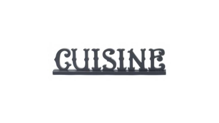 SIGNE `` CUISINE `` EN RÉSINE 3D