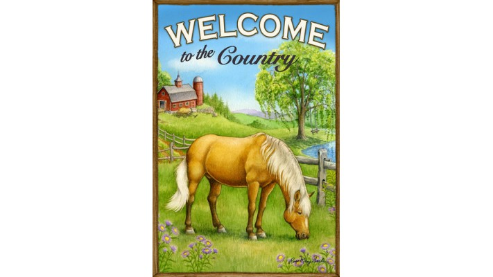 WELCOME TO THE COUNTRY (PETIT 12X18)