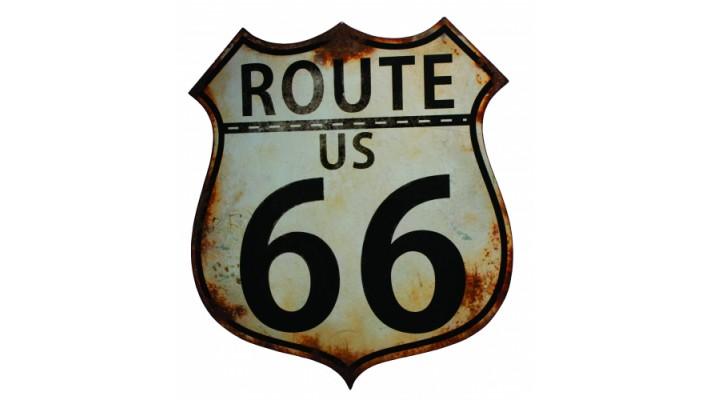 ENSEIGNE EN MÉTAL   `` ROUTE 66 ``