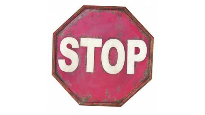 ENSEIGNE DE MÉTAL `` STOP``