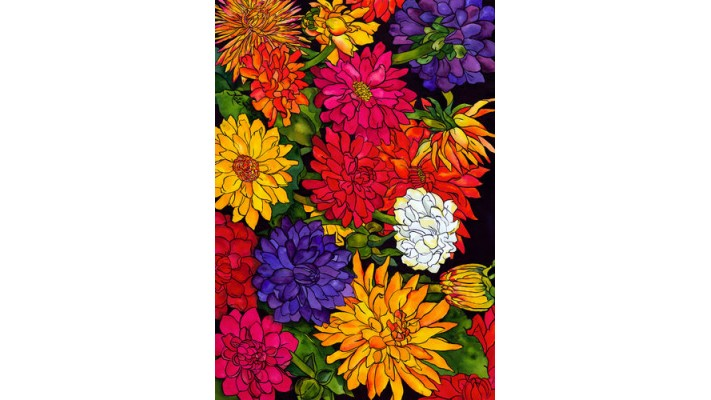 LES DAHLIAS ( GRAND 28X40)