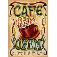 CAFÉ OUVERT   (GRAND 28 X 40)