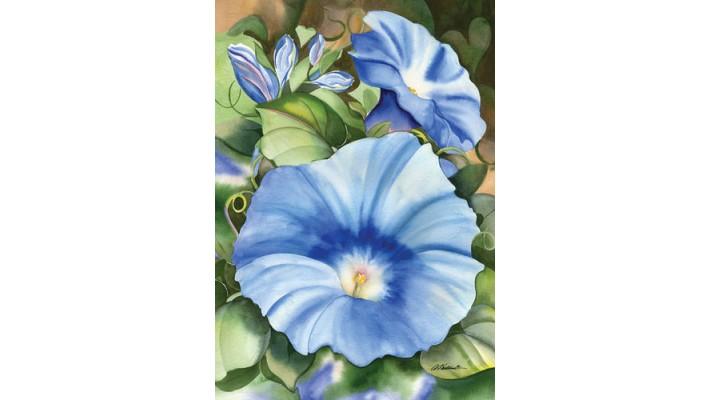 GROSSE FLEUR BLUE (GRAND 28 X 40)