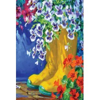BOOTS AND BLOSSOMS ( LARGE 28X40)