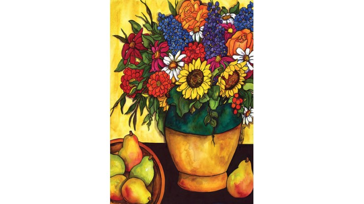 BOUQUET D'AUTOMNE  (GRAND 28 X 40 )