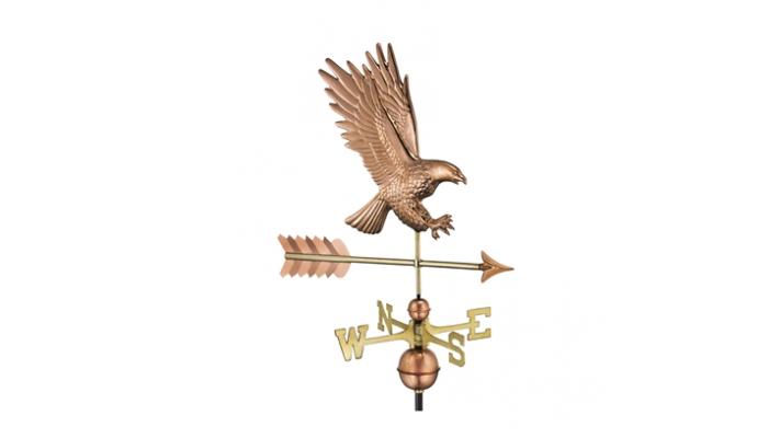 Girouette , girouette en cuivre aigle