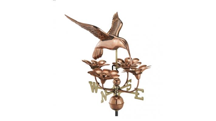Girouette , girouette en cuivre oiseau mouche