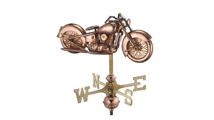 Girouette , girouette en cuivre moto collection chalet