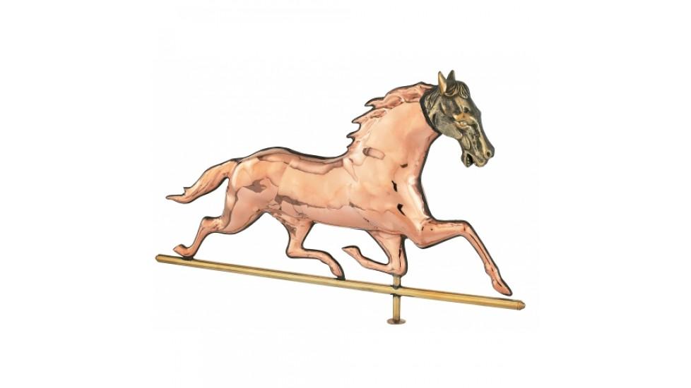 Girouette , girouette en cuivre cheval tête en brass