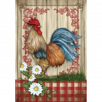 COUNTRY HOME ROOSTER ( LARGE 28X40)