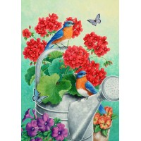 BLUEBIRD GERANIUMS ( LARGE 28X40)