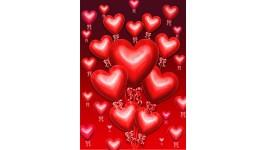 Drapeaux décoratifs St-Valentin